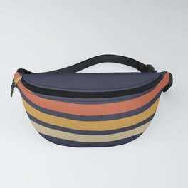 Vintage Retro Stripes Fanny Pack