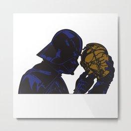 Vader Sad Face Metal Print