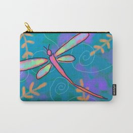 Funky Dragonfly Abstract Digital Painting Carry-All Pouch