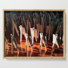 """"""" Easels At Sunrise """" Serving Tray"""