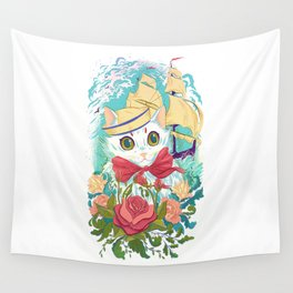 Sailor Kitty Wall Tapestry