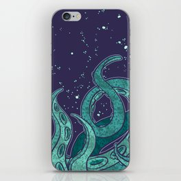 Giant Tentacle Blue Redux iPhone Skin