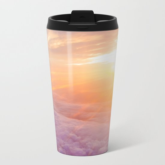 up in the clouds Metal Travel Mug