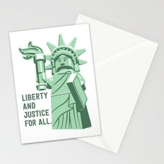 Liberty and Justice Stationery Cards