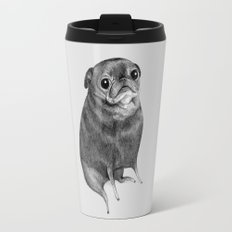 Sweet Black Pug Travel Mug