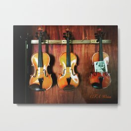 Einstein's Violins Metal Print