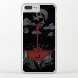 black world Clear iPhone Case