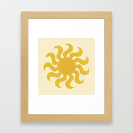 Knitted sun Framed Art Print
