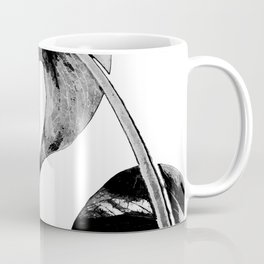 Black monstera leaves watercolor Coffee Mug
