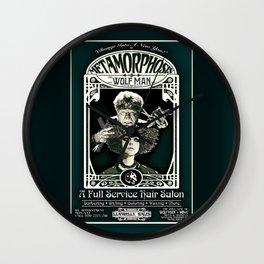 Metamorphosis by The Wolf Man: A Full Service Hair Salon (Vintage) Wall Clock