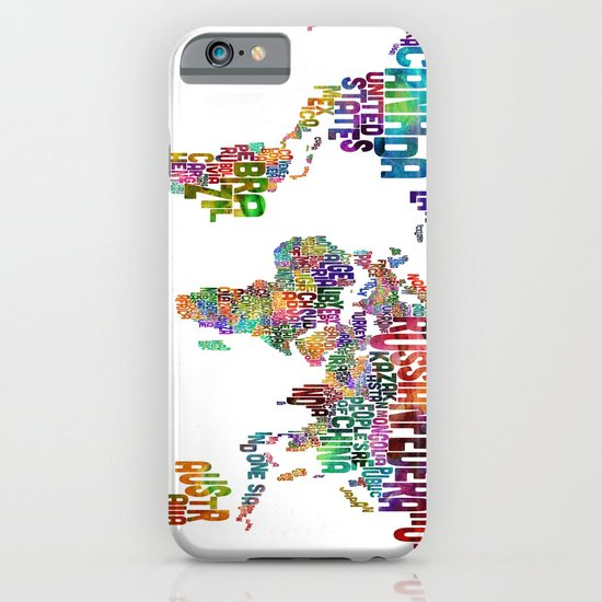 Text Map of the World iPhone & iPod Case