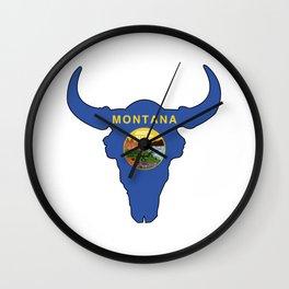 Montana Bison Wall Clock