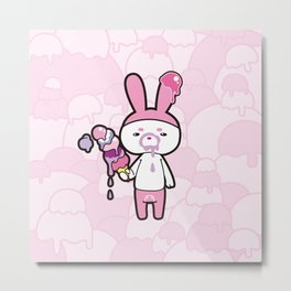 Oishii ice Cream Metal Print