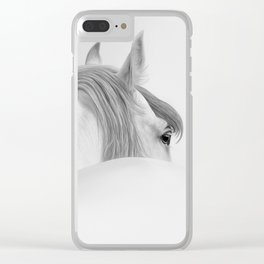 Andalusian Stallion - Digital Painting Clear iPhone Case