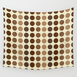 Shades Of Brown Polka Dots-Textured Wall Tapestry