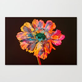 Psychedelic Floral Dew Canvas Print