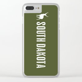 Deer: South Dakota Clear iPhone Case