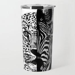 jaguar zebra monster Travel Mug