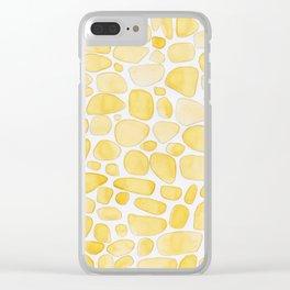 Yellow Saffron Clear iPhone Case