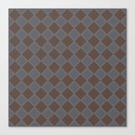 Primitive Tudor Style Diamond Pattern Canvas Print
