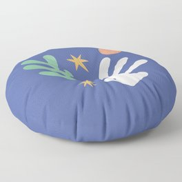 Inspired by Matisse - Seagrass and Sun 1.2  Floor Pillow