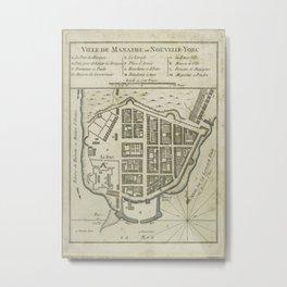 Vintage Map of Lower Manhattan (1764) Metal Print