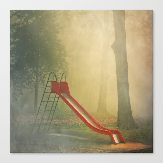 rEd sLide Canvas Print