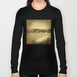 Bay and beach side suburb in sepia Long Sleeve T-shirt