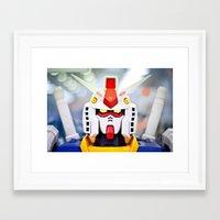 gundam Framed Art Prints featuring Portrait Gundam by Long Thai - mineralblu.com