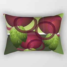 Raspberry with Basil II Rectangular Pillow