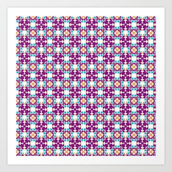 Magic in purple Art Print
