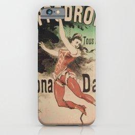 Hippodrome Leona Dare 1883 By Jules Cheret | Reproduction Art Nouveau iPhone Case