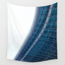 The Building Curves (Color) Wall Tapestry