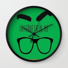 Internetain Me Wall Clock