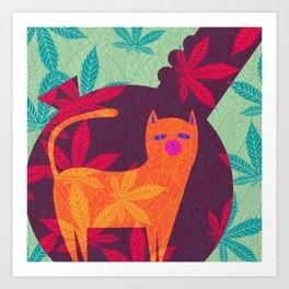 Cat Foliage 06 Art Print