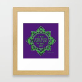 Before I Fall quote - Lauren Oliver Framed Art Print