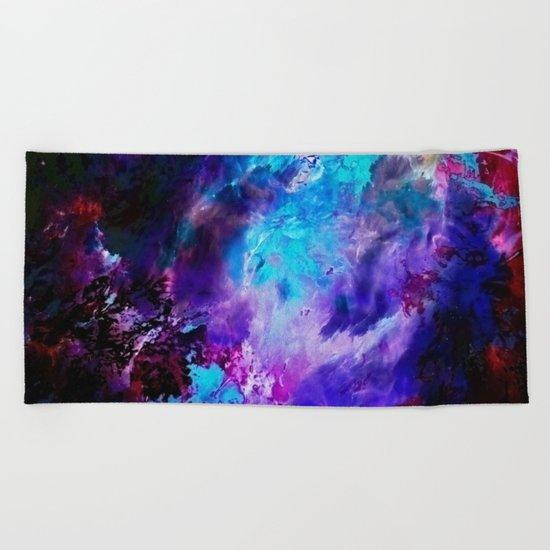 Space Flowers Beach Towel