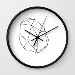 geometric crystal plain Wall Clock