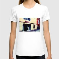 cinema T-shirts featuring Cinema Roma by Red Bicycle - Amber Elen-Forbat