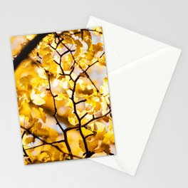 Yellow Japanese Gingko Stationery Cards