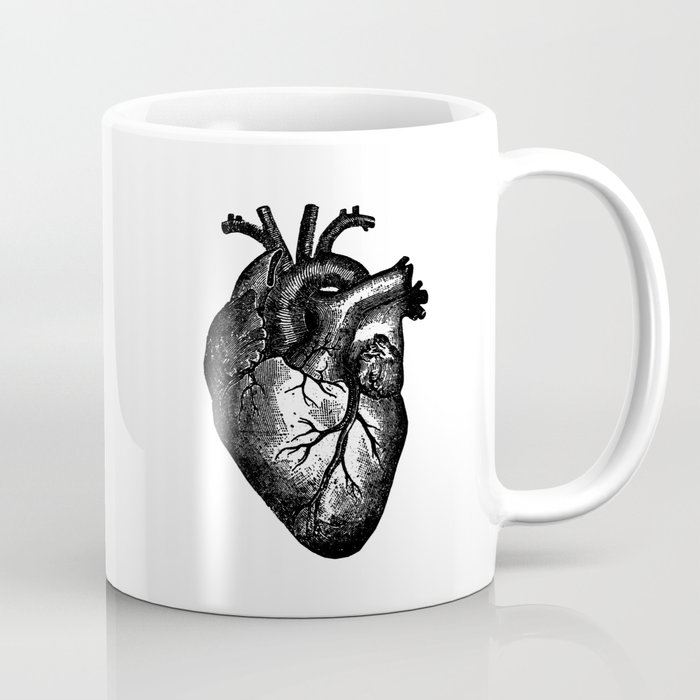Vintage Heart Anatomy Coffee Mug By Stilleskyggerart Society6