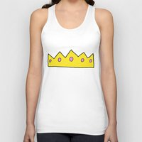 crown Tank Tops featuring Crown by elysiancreations