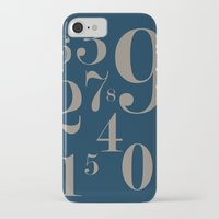 numbers iPhone & iPod Cases featuring Numbers  by Kimberly Jones