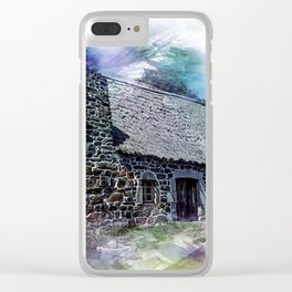 Cottage House Thatch Clear iPhone Case