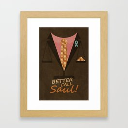 Better Call Saul Framed Art Print