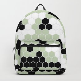 Honey Comb Light Green Geometric Pattern | Home Decor Backpack