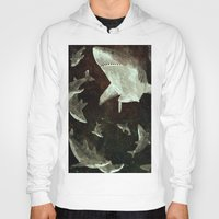 sharks Hoodies featuring sharks by Lara Paulussen