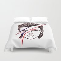 aladdin Duvet Covers featuring Bowie Aladdin by Diego L.D.