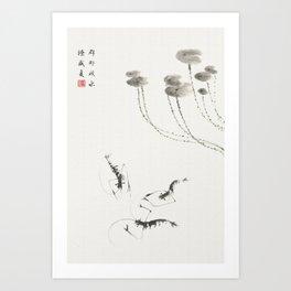 Summer shrimp Art Print