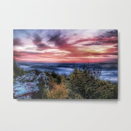 Stained Sunrise Metal Print